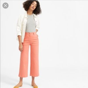 NWT Everlane wide leg cropped pants